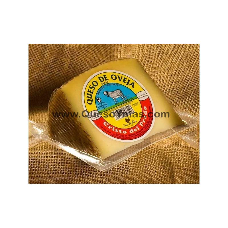 Cuña de queso de oveja de media curación. (450 g. aprox.)