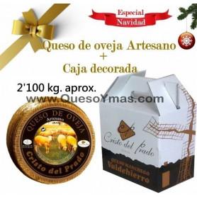 Queso Artesano de oveja Curado. (2,100 Kg. aprox.) con caja