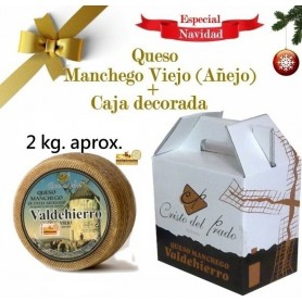 Queso Manchego Leche cruda Viejo (Añejo) 2Kg en caja