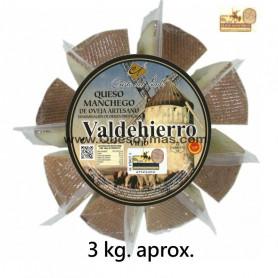Queso Manchego Artesano Viejo envasado en porciones (3,000 Kg. aprox.)