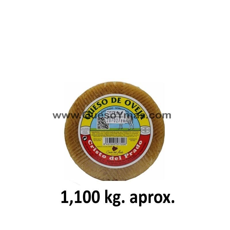 Queso Semicurado de leche de oveja mini. (1,100 Kg. aprox.)