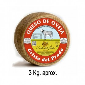 Queso Curado de oveja grande. (3,100 Kg. aprox.)