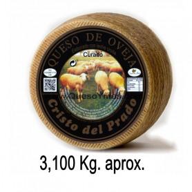 Queso de oveja Curado con leche cruda 3,100 Kg. aprox.)