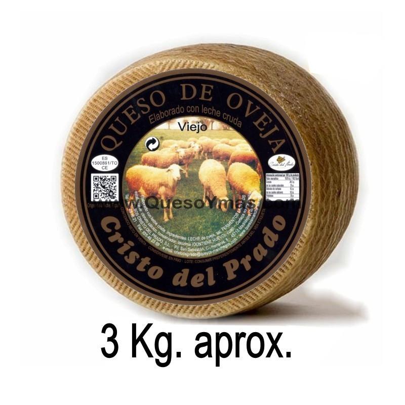 Queso Artesano Viejo de oveja Grande 3,000 Kg. aprox.