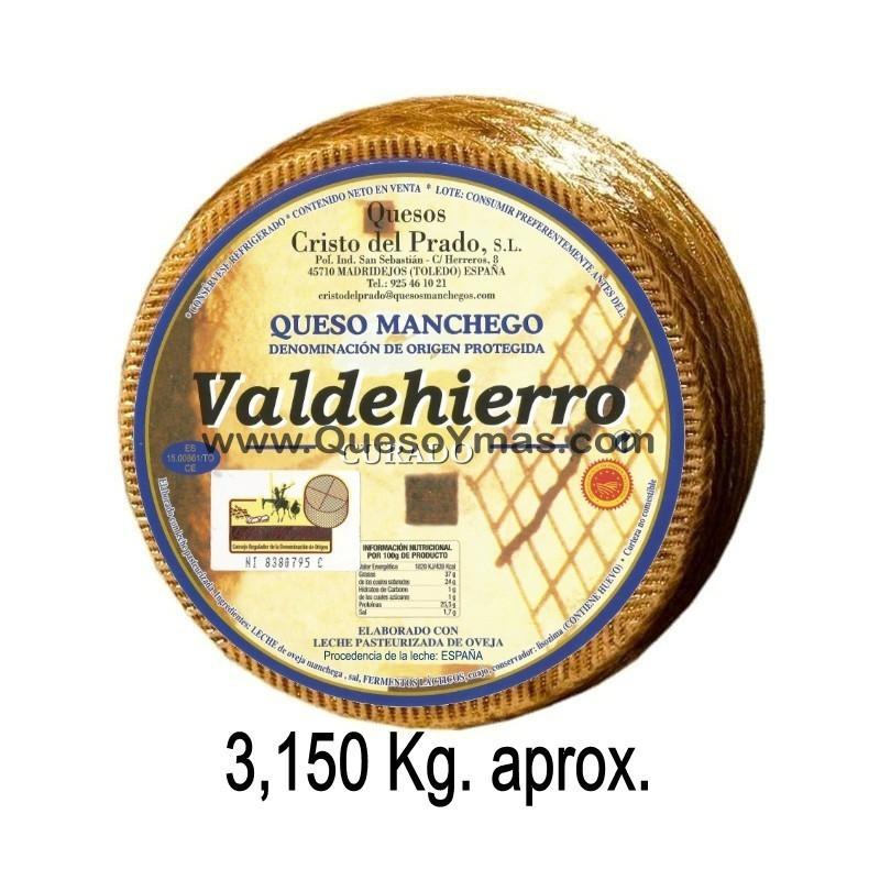 Queso Manchego Curado grande. (3,150 Kg. aprox.)
