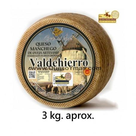Queso Manchego Artesano Viejo grande(3,000 Kg. aprox.)