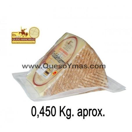 Cuña de Queso Manchego Semicurado (400 g. aprox.)