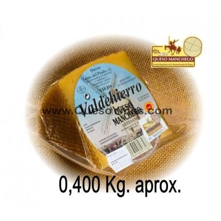 Cuña de Queso Manchego Artesano Viejo (400 g. aprox.)