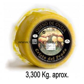 Queso Artesano en Aceite de Oliva grande. (3,200 Kg. aprox.)