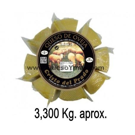 Queso de oveja Artesano en Aceite de Oliva grande en porciones. (3,350 Kg. aprox.)