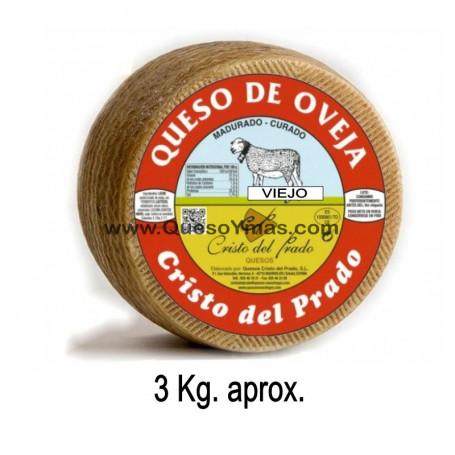 Queso de oveja Curado Viejo grande. (3,000 Kg. aprox.)