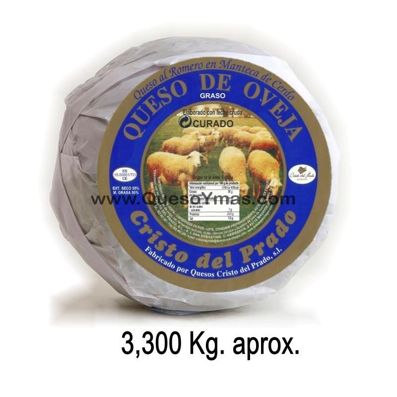 Queso Artesano en Manteca de cerdo Ibérico. (3,300 Kg. aprox.)