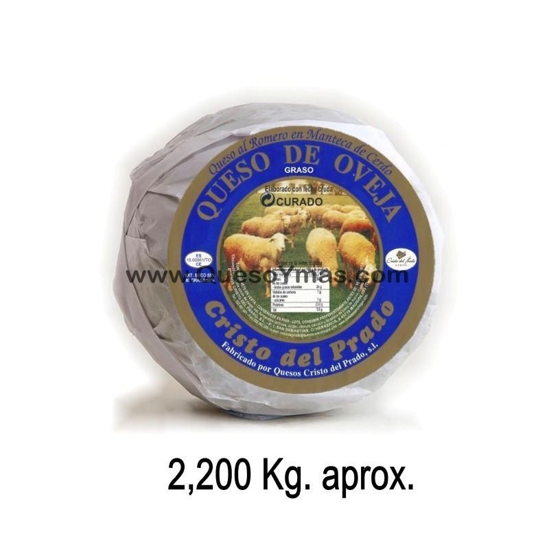 Queso Artesano en Manteca de cerdo Ibérico. (2,200 Kg. aprox.)