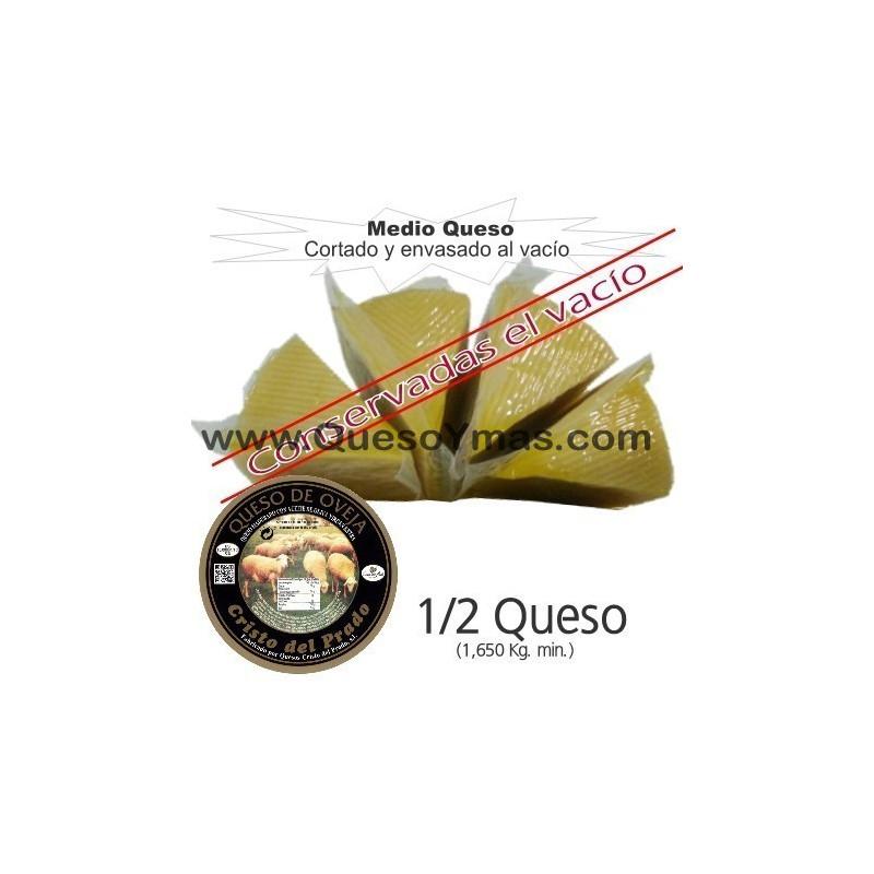 Medio Queso Artesano en Aceite de Oliva grande en porciones. (1,650 Kg. aprox.)