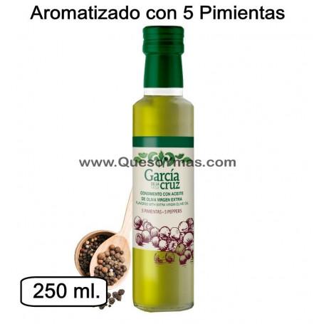Aceite de Oliva Virgen Extra aromatizado con 5 pimientas
