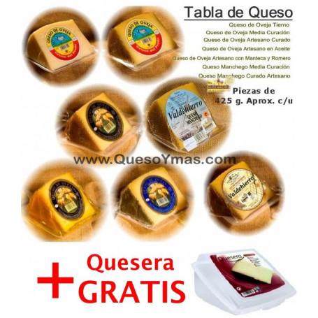 Tabla de Quesos de Oveja y Manchegos + Quesera gratis